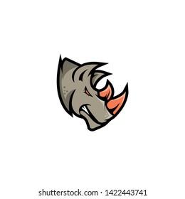 Rhino Logo Concept Vector. Rhino Logo Template - Vector