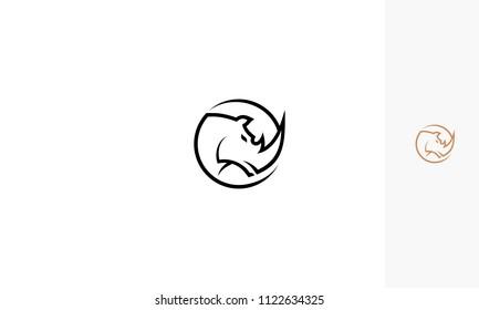 rhino logo icon vector