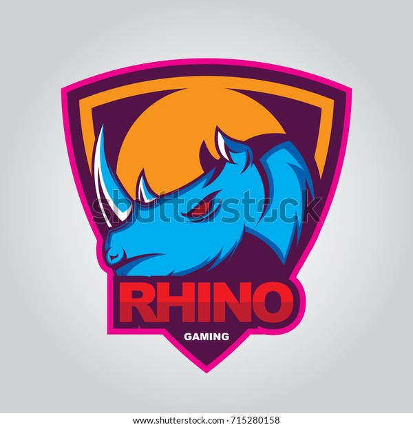 Rhino Logo Vector Sport Team Stock Vector (Royalty Free