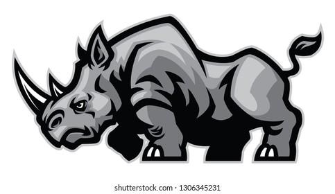 rhino mascot character