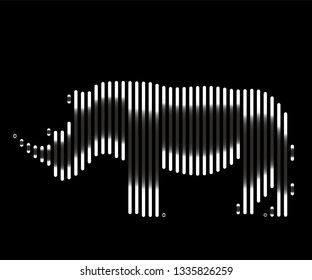 Rhino vector icon. Animal symbol- Vectorgrafik. Vector line image isolated. African animal.