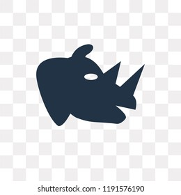 Rhino vector icon isolated on transparent background, Rhino transparency concept can be used web and mobile