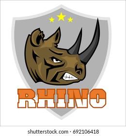 Rhinoceros head logo sport