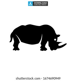 rhinoceros icon or logo isolated sign symbol vector illustration - high quality black style vector icons