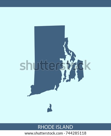 Rhode Island State USA Map Vector Stock Vector (Royalty Free ...