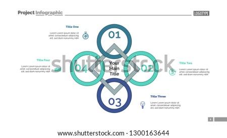 Rhomb Diagram Process Chart Cycle Graph Stock Vector