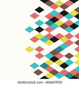 Rhombus background. Geometric pattern.