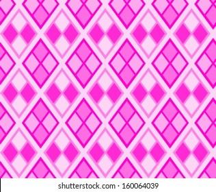 Rhombus diamond background illustration. Argyle seamless texture. Lozenge and rhombus shapes.