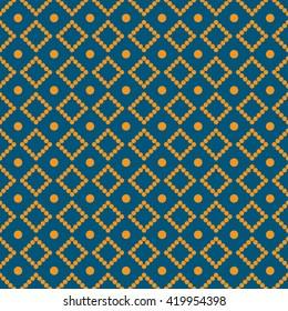 Rhombus dots blue and orange