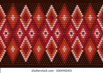 Rhombus pattern - embroidery