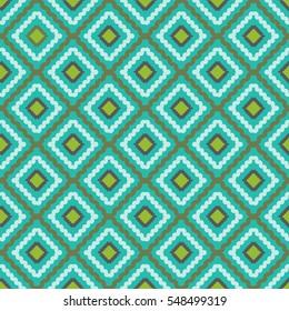 Rhombus pattern green