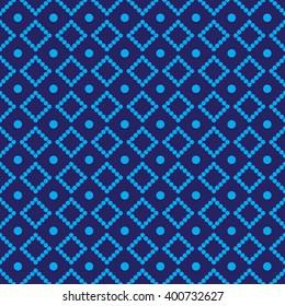 Rhombus print blue