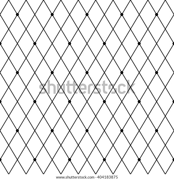 Rhombus Seamless Pattern Grid Dots Stylish Stock Vector