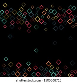 Rhombus shape minimal geometric cover template of isolated elements.Future geometric cover rhombus shape. Used as print, card, backdrop, template, texture, background, wallpaper, banner, border