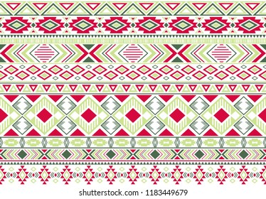 Rhombus and triangle symbols tribal ethnic motifs geometric seamless background. Impressive gypsy geometric shapes sprites tribal motifs clothing fabric textile print traditional design with triangles