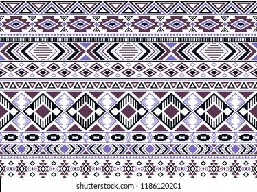Rhombus and triangle symbols tribal ethnic motifs geometric vector background. Impressive gypsy tribal motifs clothing fabric textile print traditional design with triangles