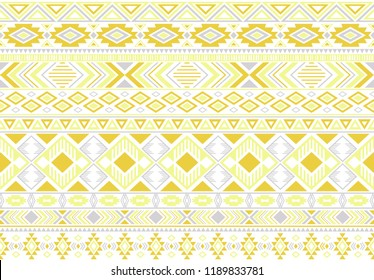 Rhombus and triangle symbols tribal ethnic motifs geometric vector background. Impressive geometric shapes sprites tribal motifs clothing fabric textile print traditional design with triangles
