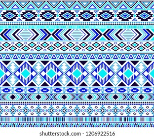 Rhombus and triangle symbols tribal ethnic motifs geometric seamless background. Rich geometric shapes sprites tribal motifs clothing fabric textile print traditional design with triangles