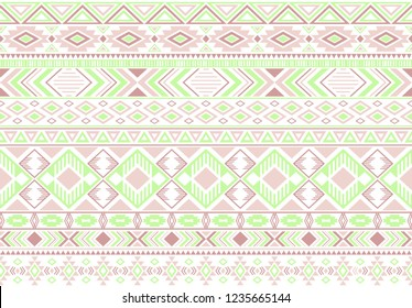 Rhombus and triangle symbols tribal ethnic motifs geometric seamless background. Cute gypsy geometric shapes sprites tribal motifs clothing fabric textile print traditional design with triangles