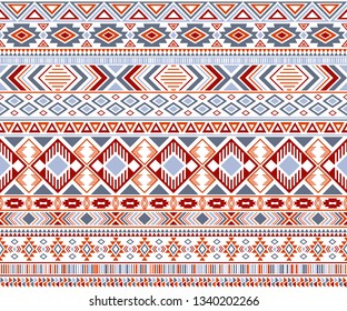 Rhombus and triangle symbols tribal ethnic motifs geometric seamless background. Cool gypsy tribal motifs clothing fabric textile print traditional design with triangles