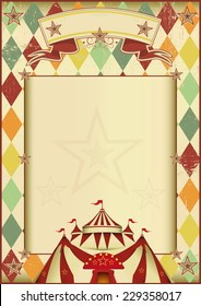 Rhombuses circus vintage background. A vintage circus poster with rhombuses for your show