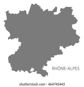 Rhone alpes map images stock photos vectors shutterstock rhone alpes france map grey altavistaventures Images