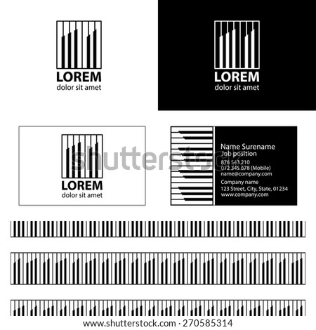 Rhythm building logo vector design business stock vector royalty rhythm building logo vector design with business card template editable and seamless pattern background vector design friedricerecipe Images