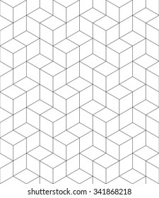 Rhythmic monochrome textured endless pattern with cubes, continuous black and white geometric background.