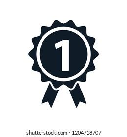 Ribbon award quality icon logo template