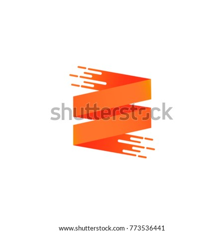 ribbon banner logo template stock vector royalty free 773536441