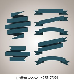 ribbon banner set, vector illustration