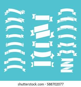 Ribbon banner for web design