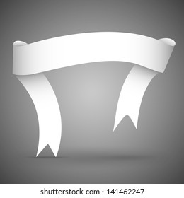 Ribbon banner white paper