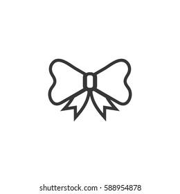 ribbon bow decorative present icon line