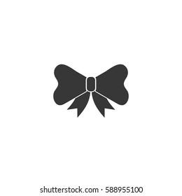 ribbon bow decorative present icon