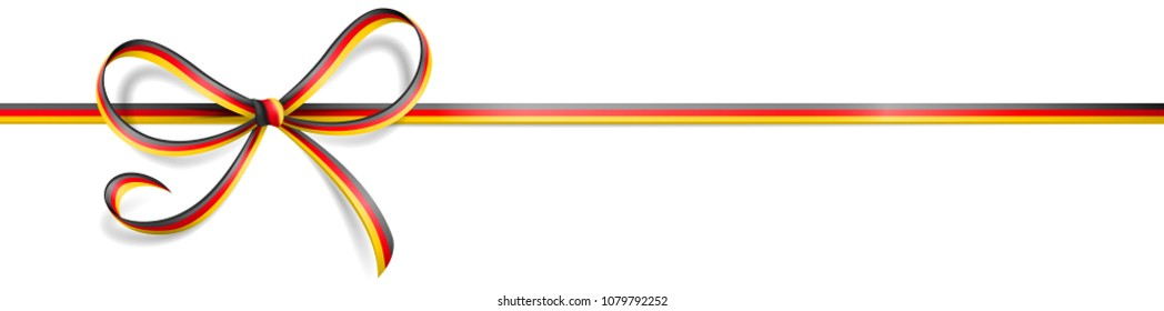 Ribbon bow german germany flag vector