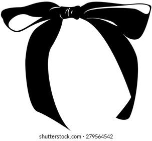 Ribbon Bow Silhouette