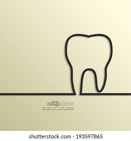 Ribbon in the form of tooth