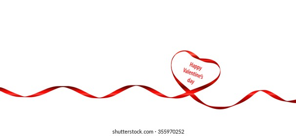 ribbon heart isolated on white background