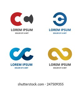 ribbon icon vector design elements. Business design template. Car logo
