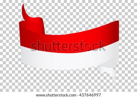 Ribbon Indonesia Flag Vector de stock (libre de regalías)437646997 ...