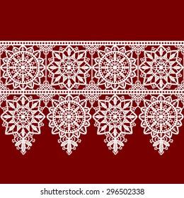 Ribbon Lace Seamless Pattern