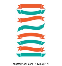Ribbon logo template vector icon design
