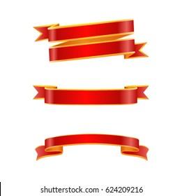 Ribbon set. Vector