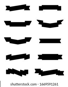 Ribbon vector set isolated on white background