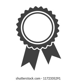 Ribbons award template isolated on white background. Vector icon.