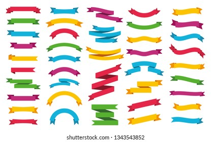 Ribbons banners set. Vector illustration
