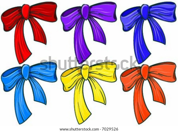 The ribbons in different colors