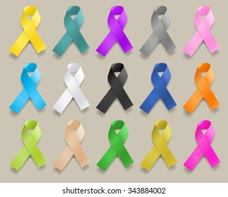 Ribbons of Various Colors