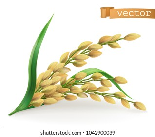 Rice. 3d vector icon